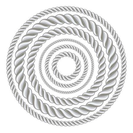 Cirkel touw illustratie vector.