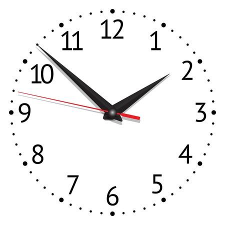 horloge. illustration