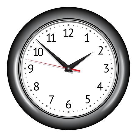 Wall mechanical clock. illustration Vettoriali