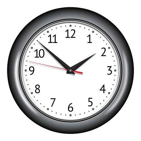 Wall mechanical clock. illustration Illustration