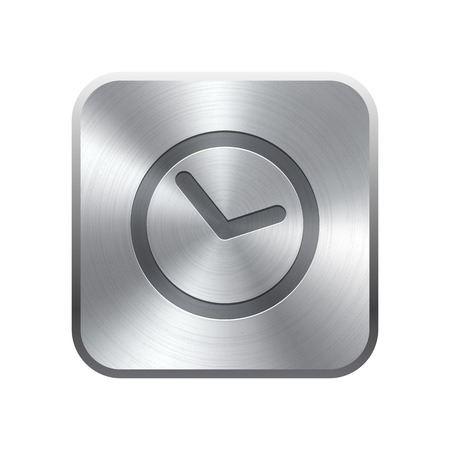 Clock icon button Vector illustration Vector