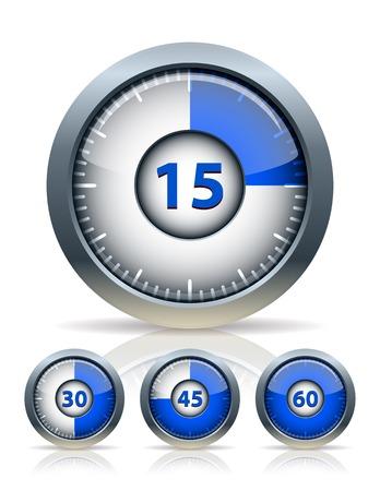Set van timer klok, vector illustration