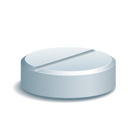 Medical Pill isolated on white background. Vector illustration Vettoriali
