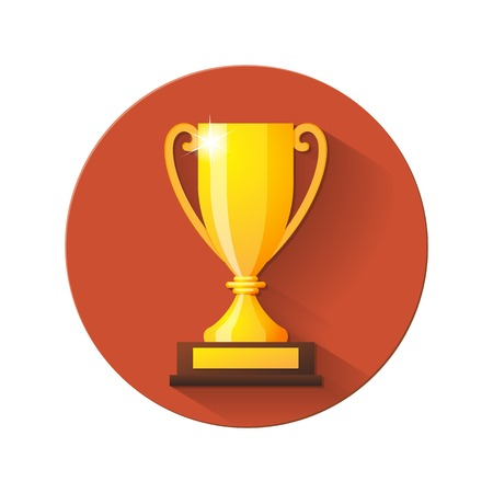 Vector Champions Cup Flat Icon. Vector illustration