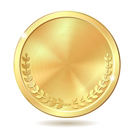 golden coins: Gold coin. illustration isolated on white background