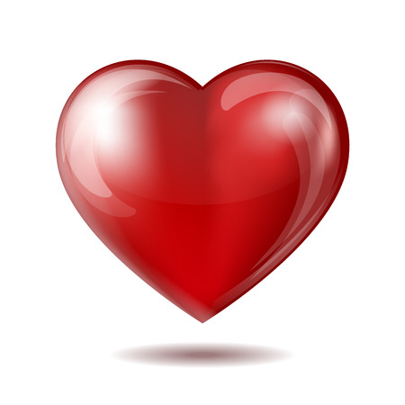 amorous: Red heart icon isolated on white. Vector illustration Illustration
