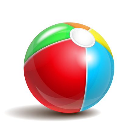 large ball: Beach ball