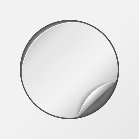 peel: Blank, white round promotional sticker