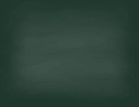 Green chalkboard background. Empty on a green school board. Vector illustration.