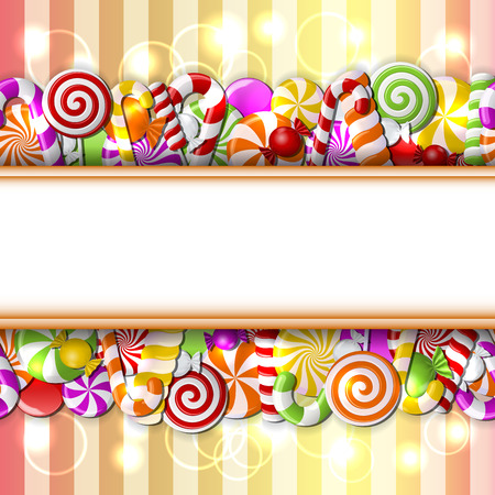 candies: caramelos de colores. Patrón transparente. Vectores