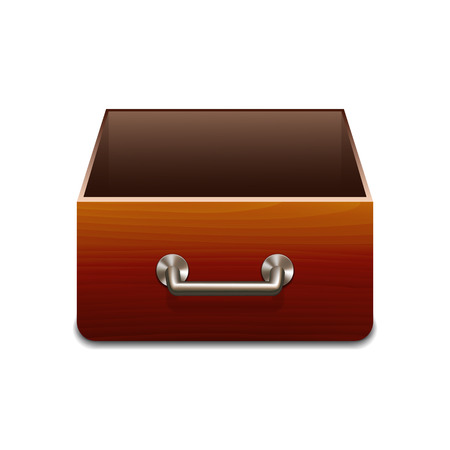 file cabinet: Vector Wooden File Cabinet for Documents. Vector illustration