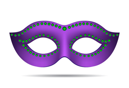 venice carnival: Mardi Gras mask isolated on white. Vector illustration Illustration