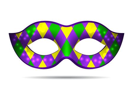 Mardi Gras mask isolated on white. Vector illustration Illustration