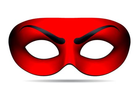 s horn: Devil mask isolated on white. illustration