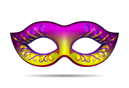 theatre masks: Carnival mask for masquerade costume. Isolated on white background Vector illustration Illustration