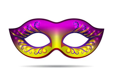 Carnival mask for masquerade costume. Isolated on white background Vector illustration Illustration