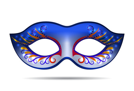 Carnival mask for masquerade costume. Isolated on white background Vector illustration