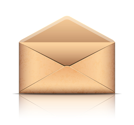 old envelope: Old envelope, isolated on white background. Vector illustration