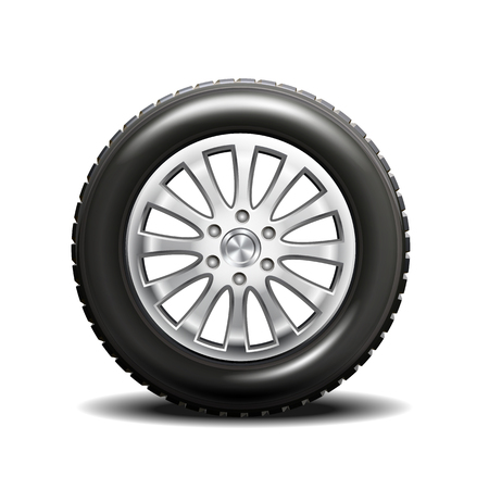 Single car tire with rims