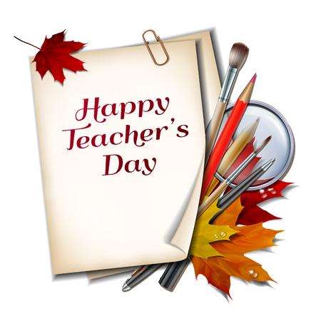 Teacher s Day vector card.