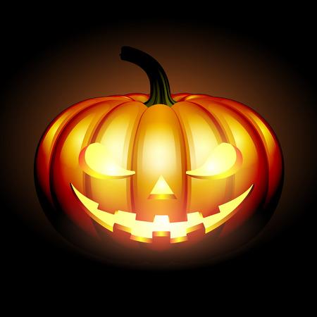 Scary Jack halloween pumpkin Illustration