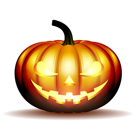 Scary Jack halloween pumpkin Illustration
