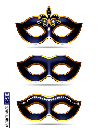 Set of Carnival Mask Vectores