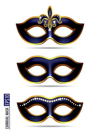 Set of Carnival Mask Ilustração