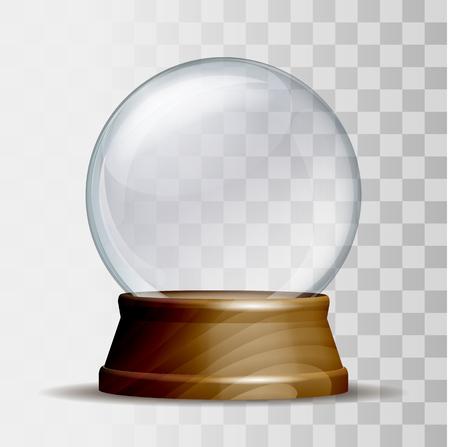 Empty snow globe. Illustration