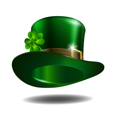 St. Patrick's hat isolated on white background. Illustration