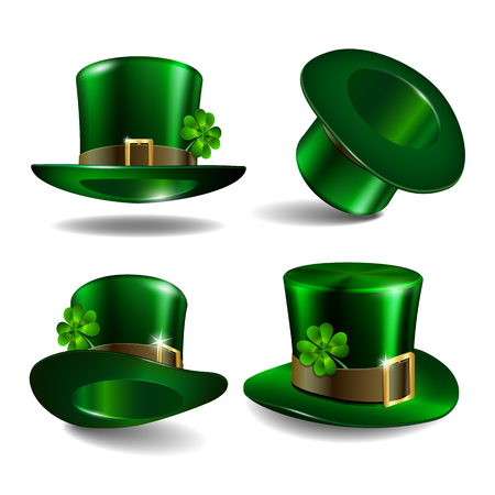 St Patricks day hats. Vector Illustration