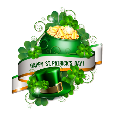 Patrick day card Illustration