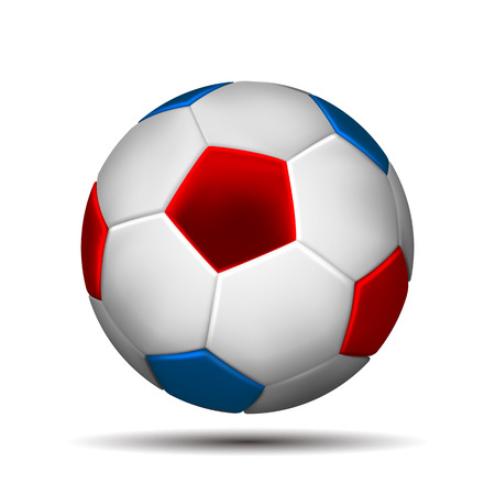 Soccer ball in color of russian flag I