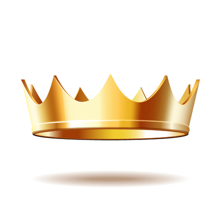 Golden royal crown isolated on white Illustration