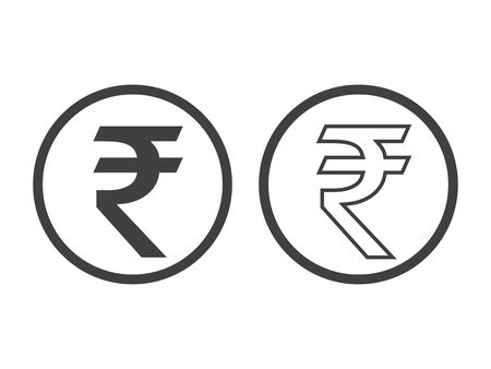 Rupee Currency Icon Isolated on white background. 일러스트