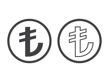 Turkish Lira Sign. TL currency symbol.