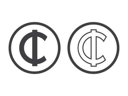 Ghana Cedi currency symbol, vector illustration on white background