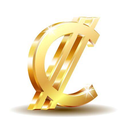 Costa Rican and Salvadoran colon currency symbol