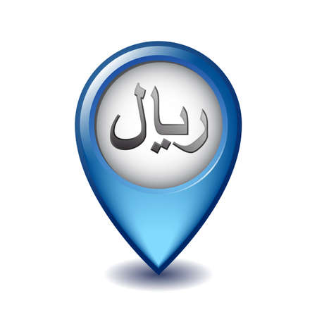 Rial symbol on Mapping Marker icon.