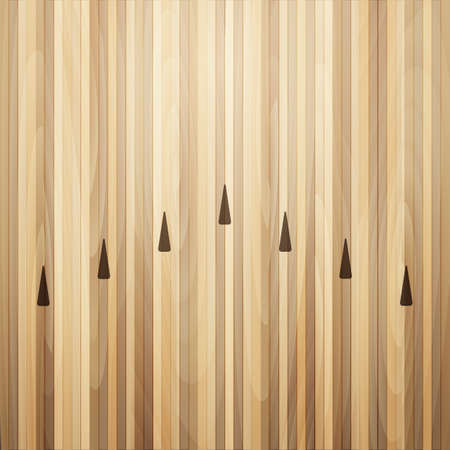 Bowling street wooden floor. Bowling alley background. Vector illustration