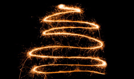 newyears: sparkler christmas tree spiral