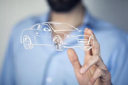 businessman hand car