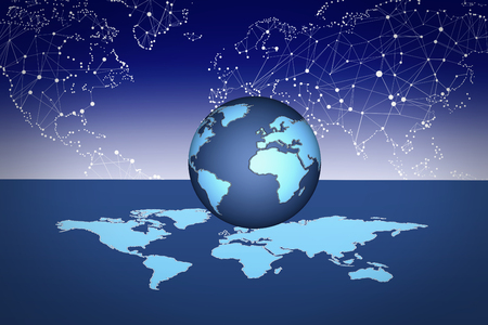 Blue Globe Background for variety graphics uses Stock Photo