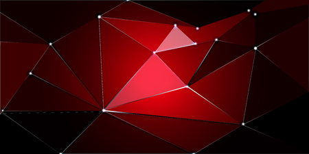 Dark red abstract or polygonal triangle illustration background