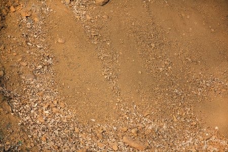 the abstract Fresh brown soil the background Reklamní fotografie