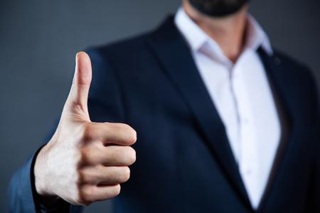 man hands showing ok sign in screen Reklamní fotografie