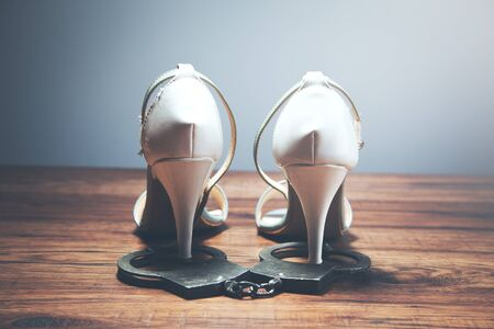 woman shoes with cuffed