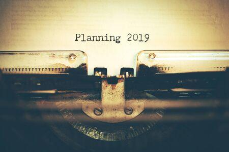 planning 2019 with Typewriter
