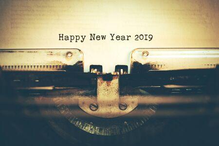 Happy New Year 2018 words typed on a Vintage Typewriter Reklamní fotografie
