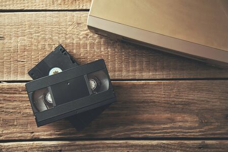 video cassette on the table